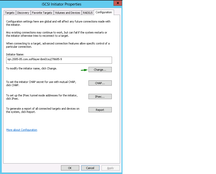 Connecting to iSCSI LUNS on Microsoft Windows