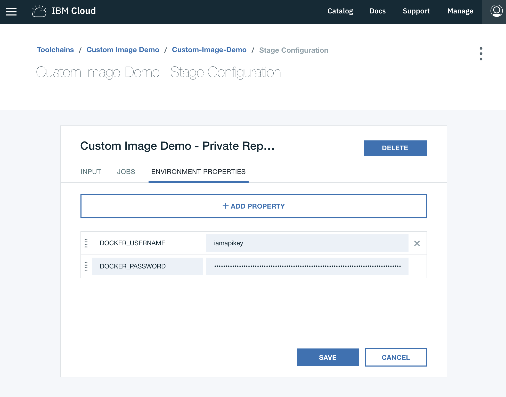 Working with custom Docker images