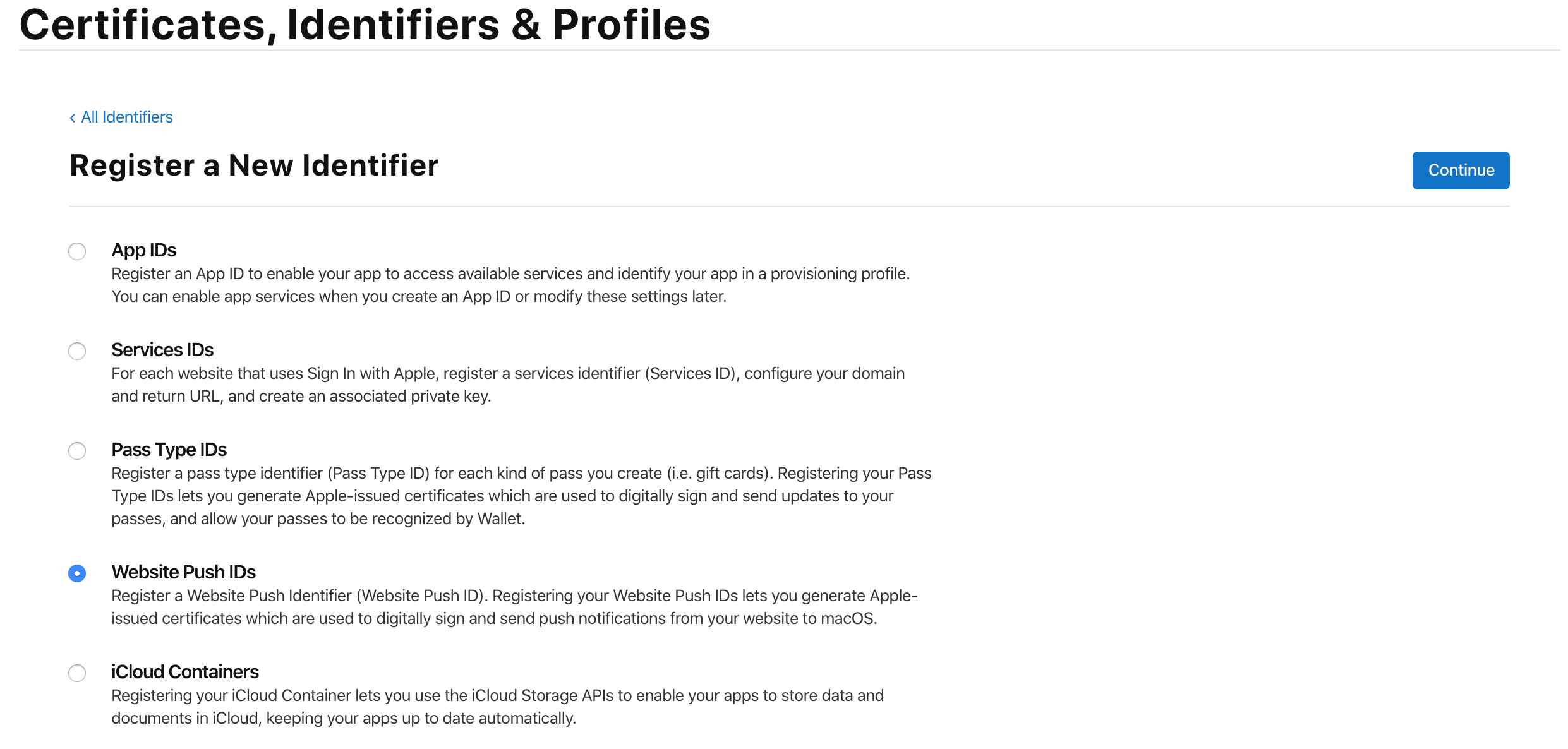 Step 2: Obtain your notification provider credentials