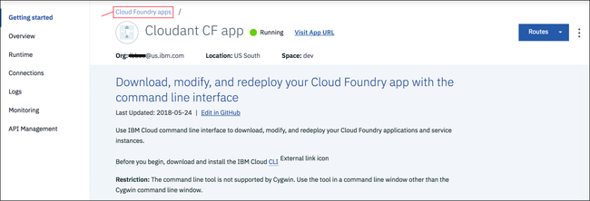 Creating a simple IBM Cloud application to access an IBM