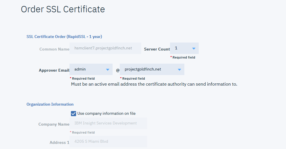 Order An Ssl Certificate